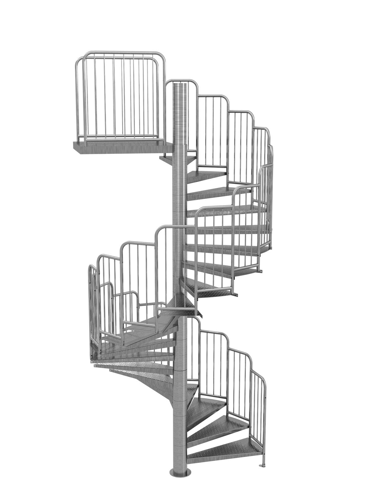 Escalier Modulaire Pas Cher escalier hélicoïdal standard en acier galvanisé : stairbat