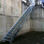 escalier d'accès technique acbi marche caillebotis