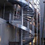 escalier de secours acbi marche caillebotis 30×19-limon exter