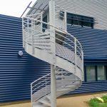 escalier de secours acbi peinture epoxy