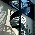 escalier de secours acbi peinture epoxy marche caillebotis