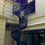 escalier de secours acbi peinture epoxy noire