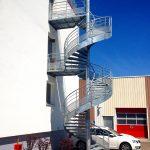 escalier helicoidal de secours acbi 2 paliers
