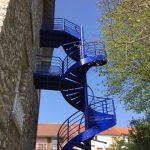 escalier helicoidal de secours acbi 2 paliers peinture epoxy
