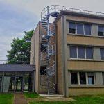 escalier technique acbi acier galvanise main courante 1 lisse