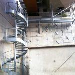 escalier technique acbi avec passerelle
