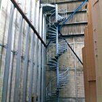 escalier technique acbi helicoidal acier garde-corps main courante 2 lisses