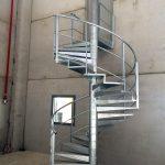 escalier technique acier galva helicoidal acbi