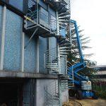 escalier technique helicoidal acbi acier galva