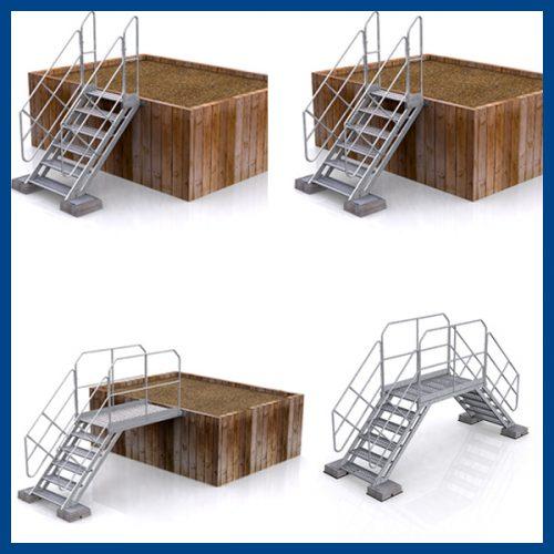 escalier saut de loup acier jumpkit acier double accès