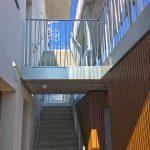 garde-corps acier bambou et rampe escalier