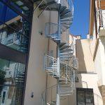 escalier hélico + palier intermédiaire