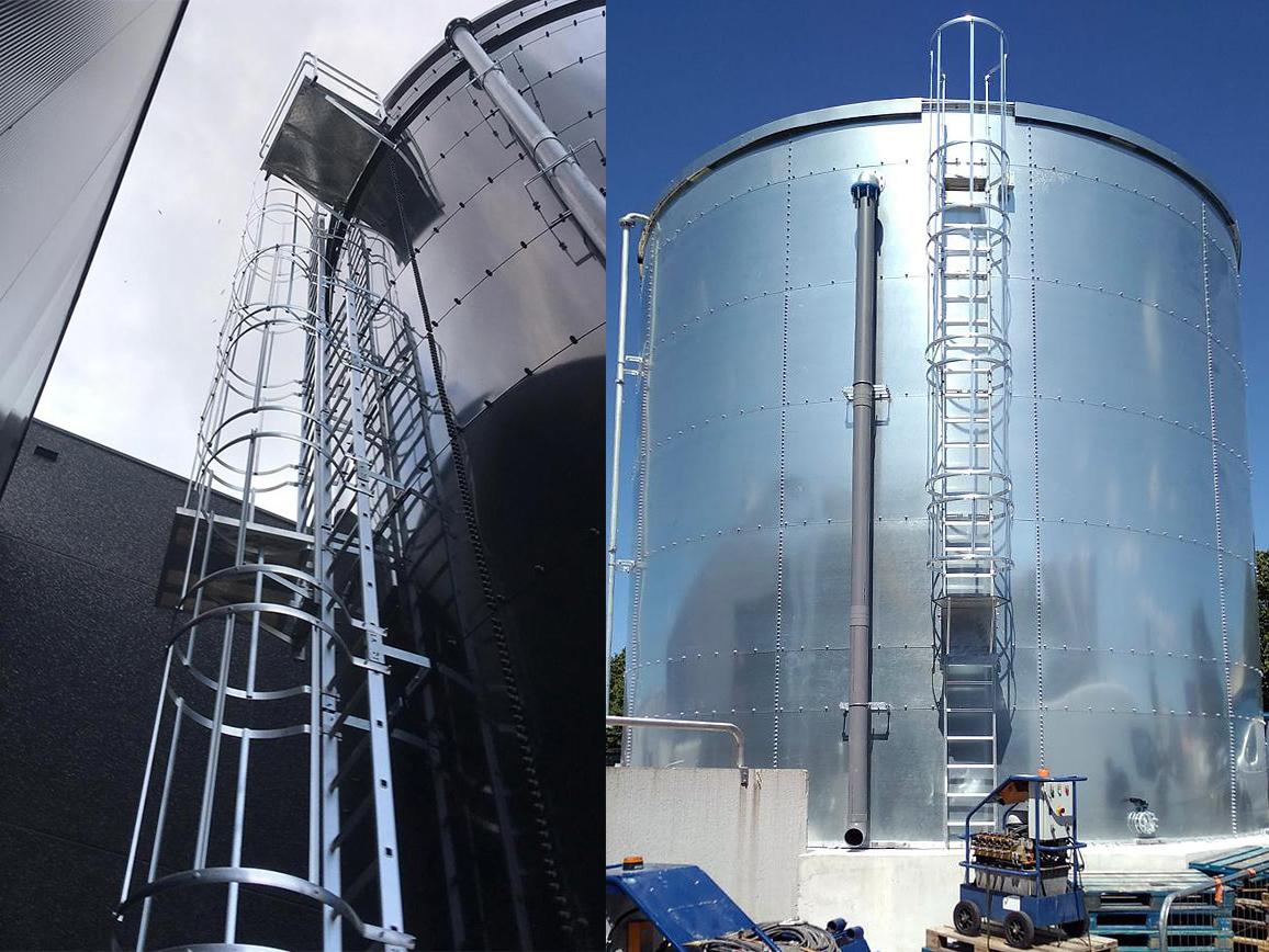 échelle pour réservoir