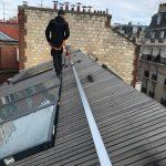 ligne de vie rail toit bois