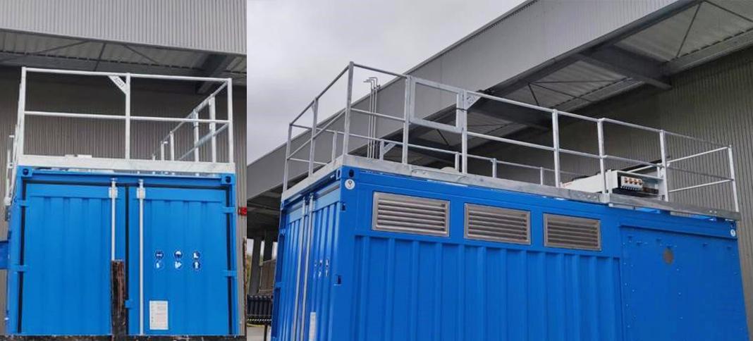 garde-corps sur mesure pour container Gardobox